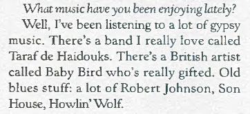 rolling stone babybird mention