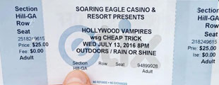 soaring eagle ticket